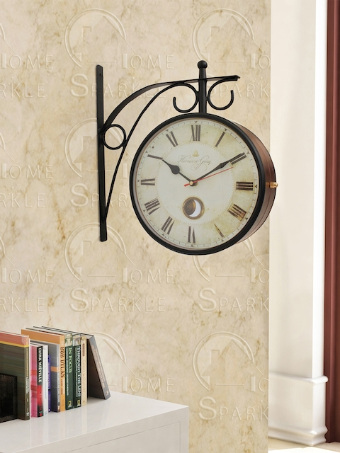 Home Sparkle Off-White Analogue 29 cm Wall Clock