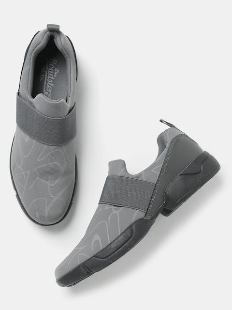 Roadster Women Grey Woven Slip-Ons