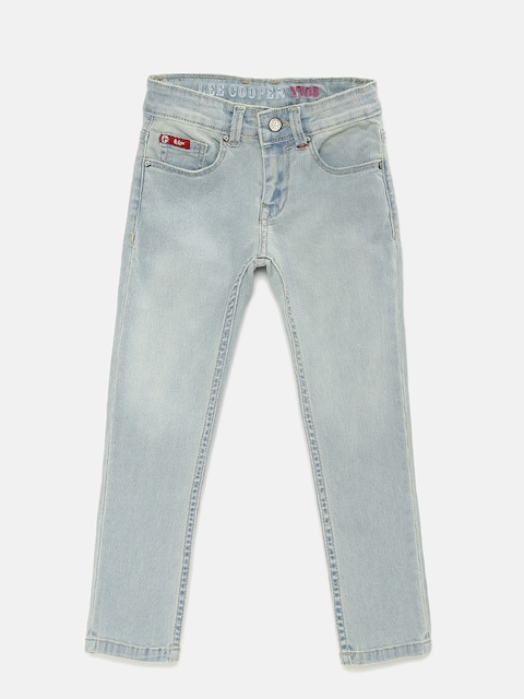 Lee Cooper Girls Blue Washed Slim Fit Stretchable Jeans  available at myntra for Rs.699