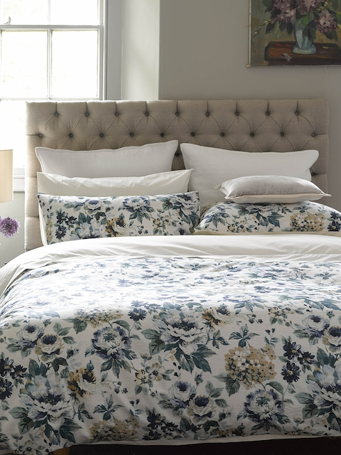 CHRISTY Multicoloured Printed Cotton Double Bed Duvet Cover