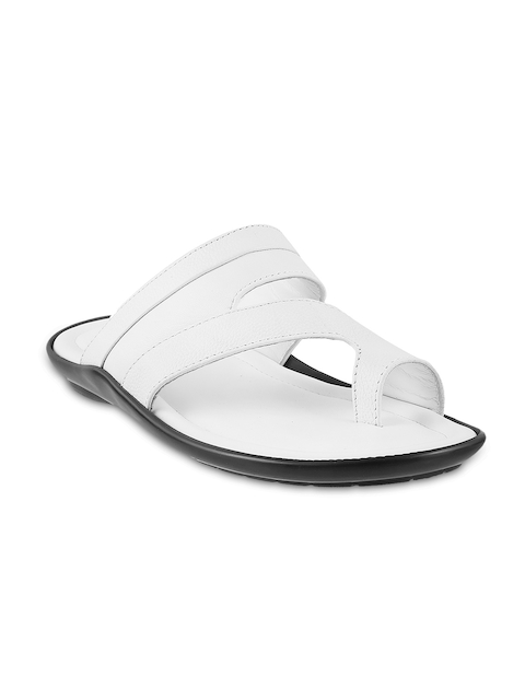 Mochi Men White Leather Sandals