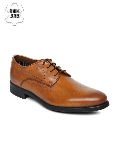 Arrow Men Tan Brown Genuine Leather Brogues