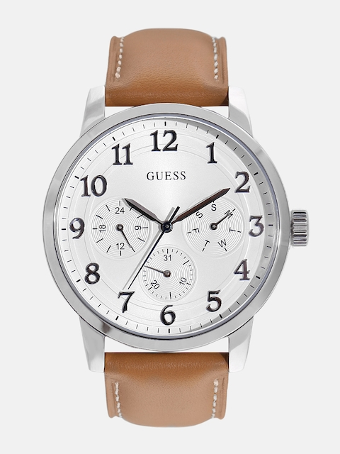 GUESS Men Off-White Multifunction Watch W0974G1