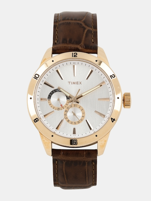 Timex Men Silver-Toned Analogue Watch TW000Z103