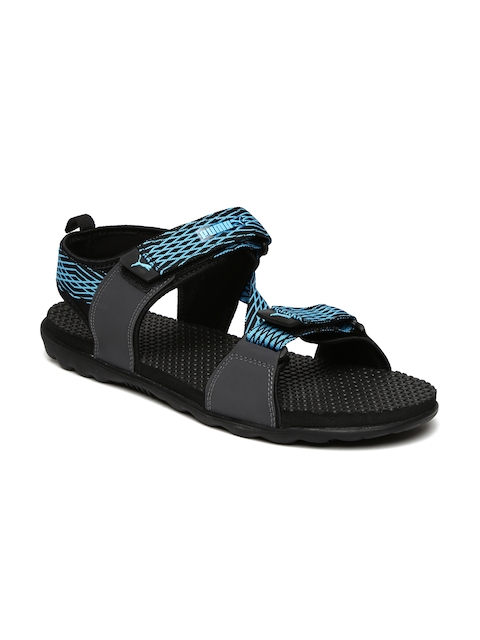 Puma Men Blue & Black Spectra IPD Sports Sandals