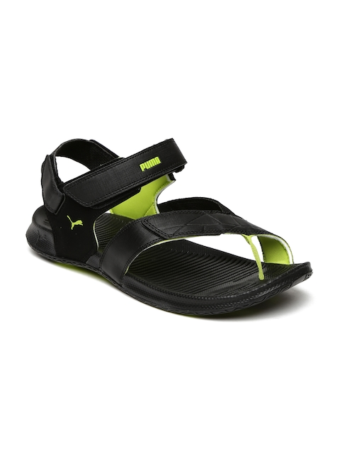 PUMA Men Black Ginger IDP Sports Sandals