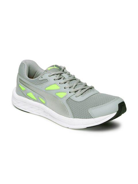 Puma Men Grey & Lime Green Driver IDP Running Shoes