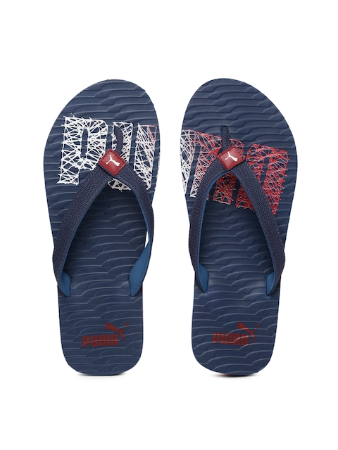 Puma Unisex Navy & Red Miami Fashion II DP Printed Flip-Flops  available at myntra for Rs.349