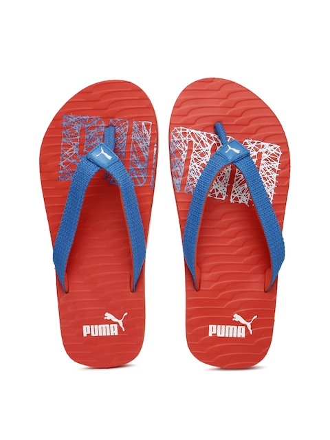 Puma Unisex Blue & Red Printed Miami Fashion II DP Flip-Flops  available at myntra for Rs.419