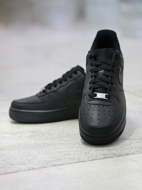 Nike Men Black Air Force 1 Mid-Top Sneakers