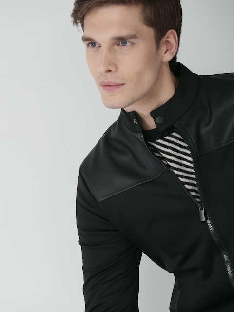 INVICTUS Men Black Solid Bomber