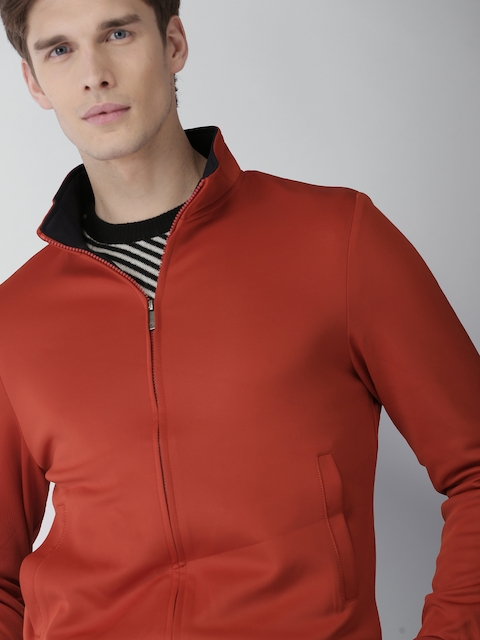 INVICTUS Men Rust Red Solid Bomber