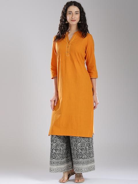 Fabindia Women Orange Kurta