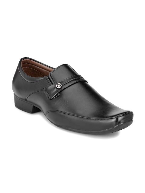 John Karsun Men Black Semiformal Slip-Ons