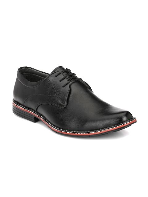 John Karsun Men Black Semiformal Shoes