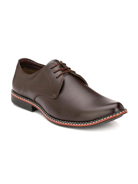 John Karsun Men Coffee Brown Formal Shoes