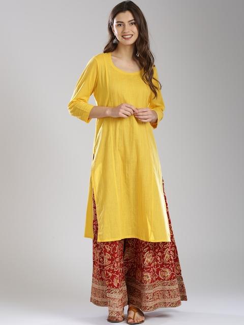 Fabindia Women Yellow Kurta