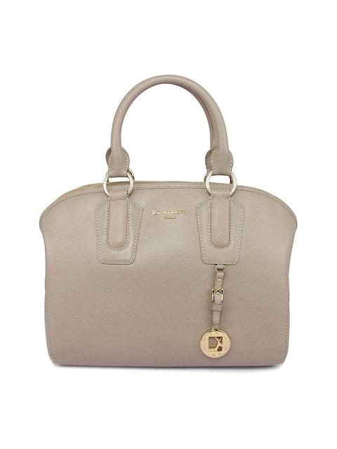 Da Milano Beige Saffiano Leather Handbag