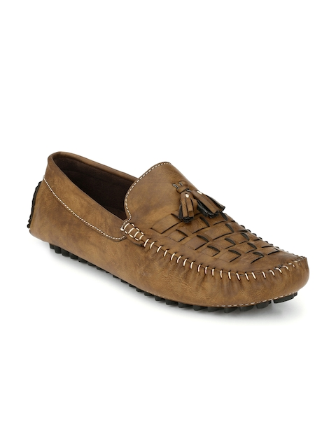 Prolific Men Brown Solid Driving Shoes