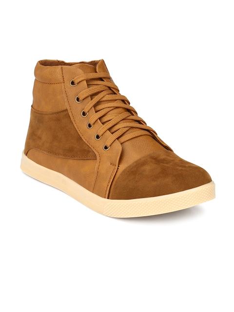 Prolific Men Tan Brown Solid Flat Boots