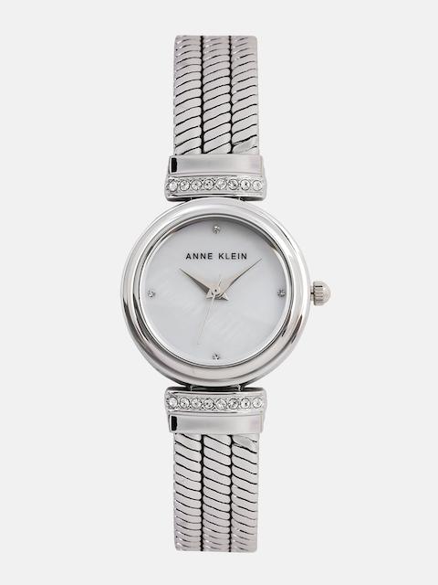 ANNE KLEIN Women Pearly White Analogue Watch with Swarovski Crystals AK2759MPSVJ