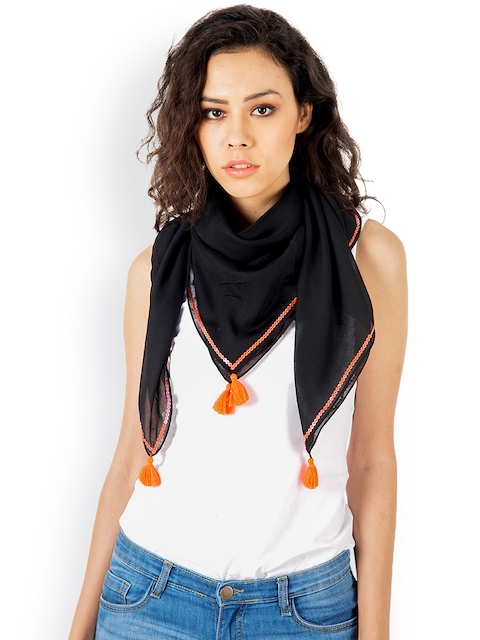 CoolThreads Black Sequinned Scarf
