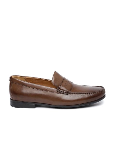 Clarks Men Tan Brown Leather Claude Lane Semiformal Shoes