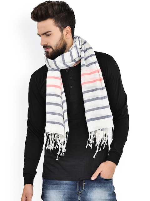 Citypret Off-White Striped Scarf