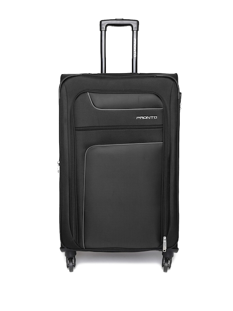 Pronto Unisex Black New Yorker 4W Spinner 68 Small Trolley Bag