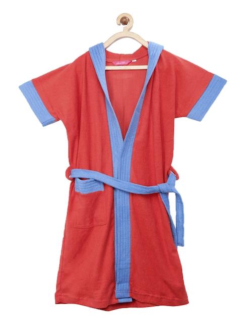 Sand Dune Girls Red & Blue Bath Robe