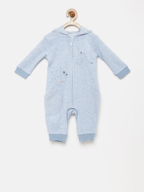 FS Mini Klub Infant Boys Blue Hooded Rompers