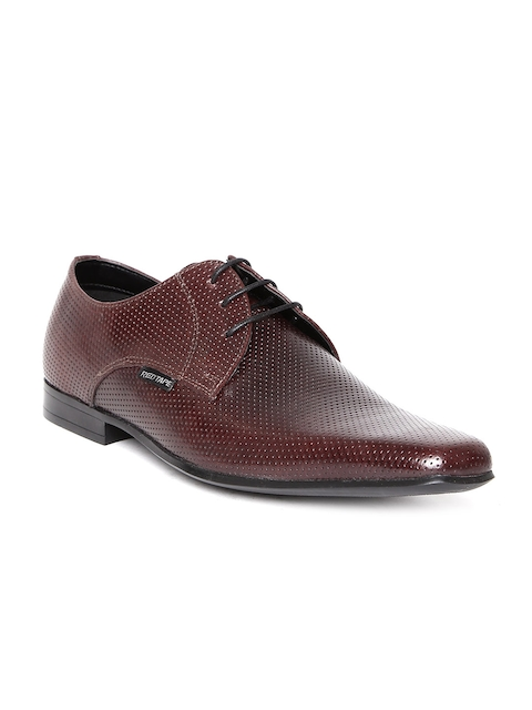 Red Tape Men Brown Perforated Leather Formal Shoes