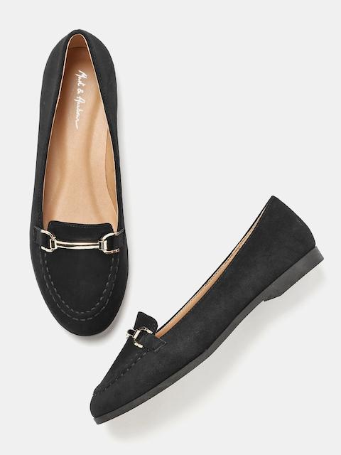 Mast & Harbour Women Black Loafers