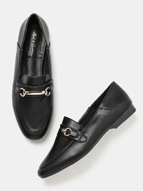 Mast & Harbour Women Black Loafers