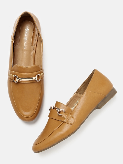 Mast & Harbour Women Tan Brown Loafers