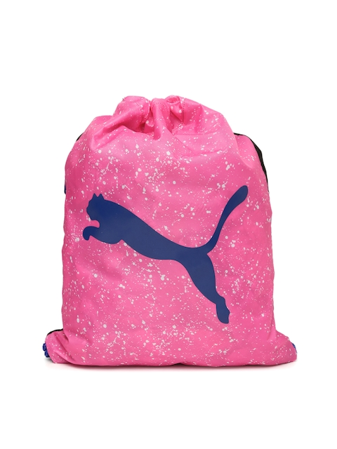 Puma Unisex Pink & Black Alpha  Gym Sack Backpack  available at myntra for Rs.399