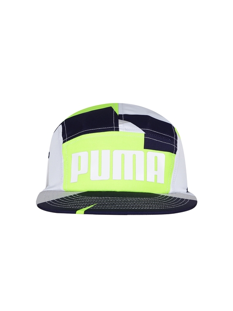 PUMA Unisex White & Navy Colourblocked 96 5PL Cap  available at myntra for Rs.399