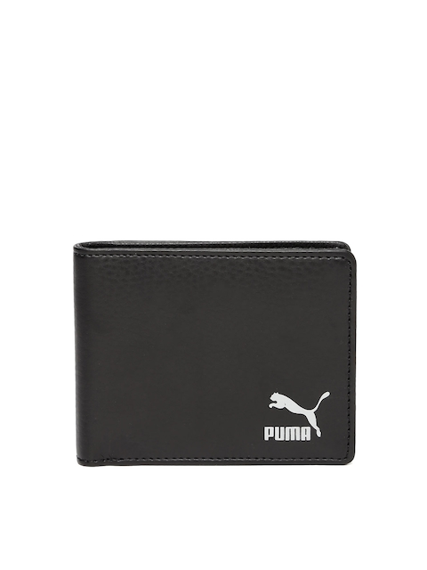 Puma Unisex Black Originals Billfold Wallet