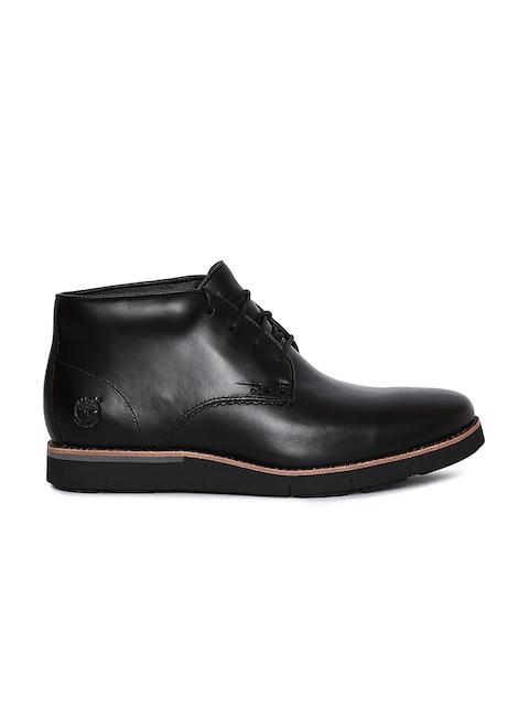 Timberland Men Black Mid-Top Boots