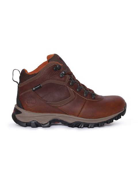 Timberland Men Brown Solid Mt Maddsen Leather Trekking Shoes