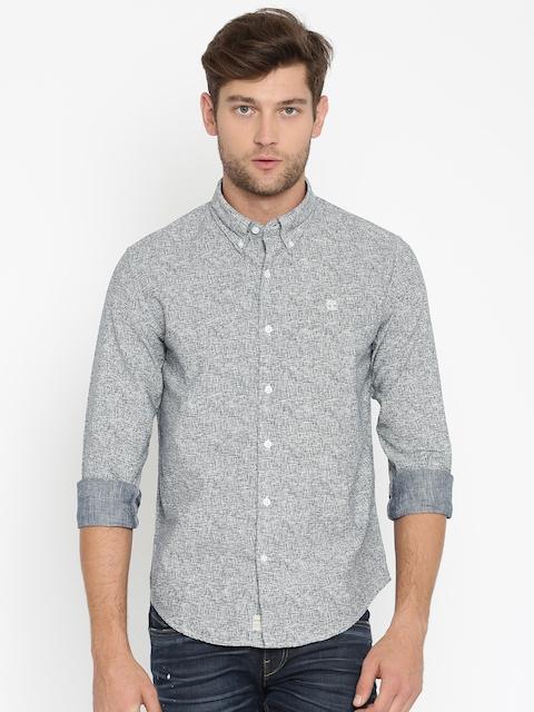 Timberland Men Blue Slim Fit Printed Casual Shirt