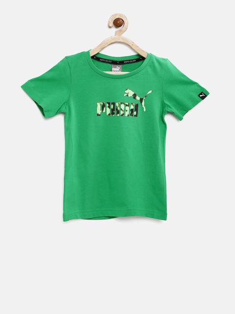 Puma Boys Green Hero Printed Round Neck T-shirt  available at myntra for Rs.359