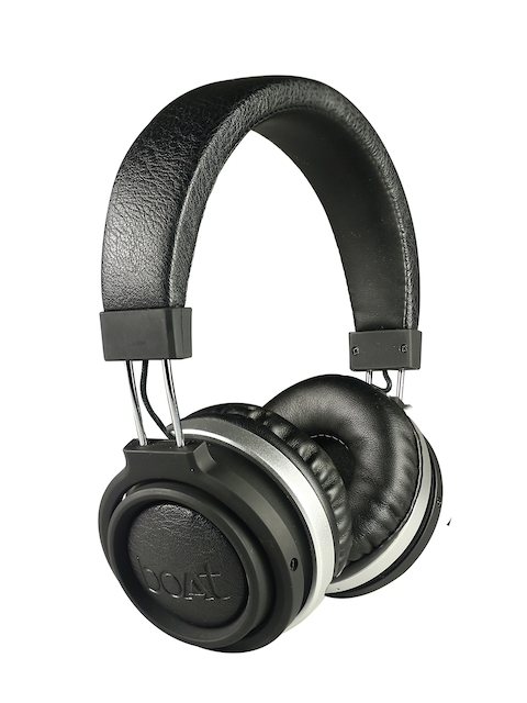 boAt Black Rockerz 470 Over-Ear Wireless Headphones with Mic