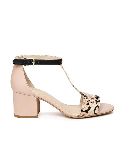 Clarks Women Beige Printed Heels