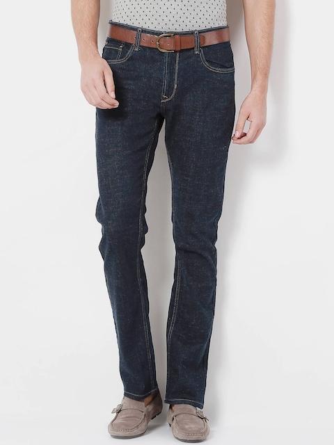 Peter England Men Blue Regular Fit Mid Rise Clean Look Jeans