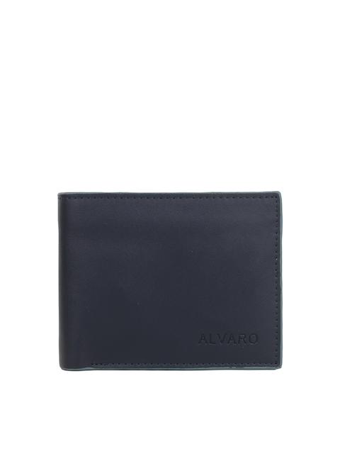 Alvaro Castagnino Men Navy Genuine Leather Wallet