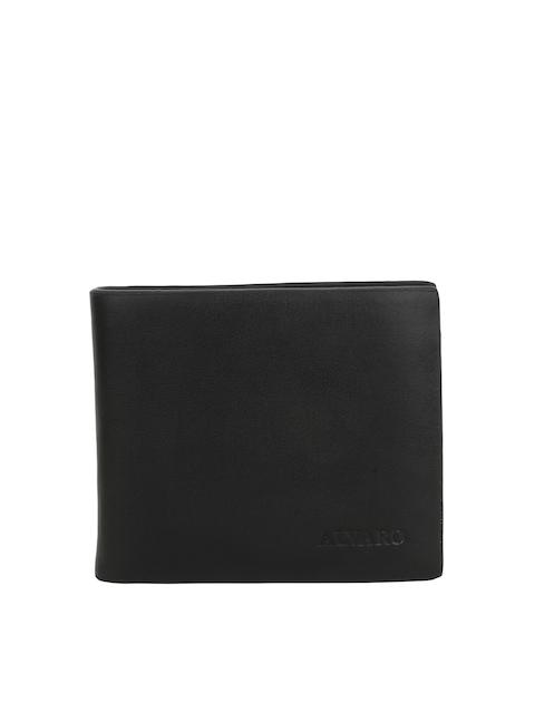 Alvaro Castagnino Men Black Genuine Leather Wallet
