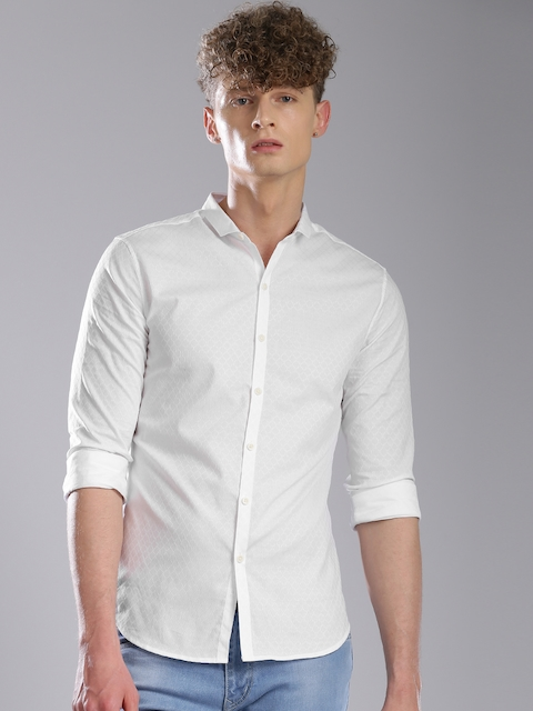 Levis Men White Regular Fit Casual Shirt