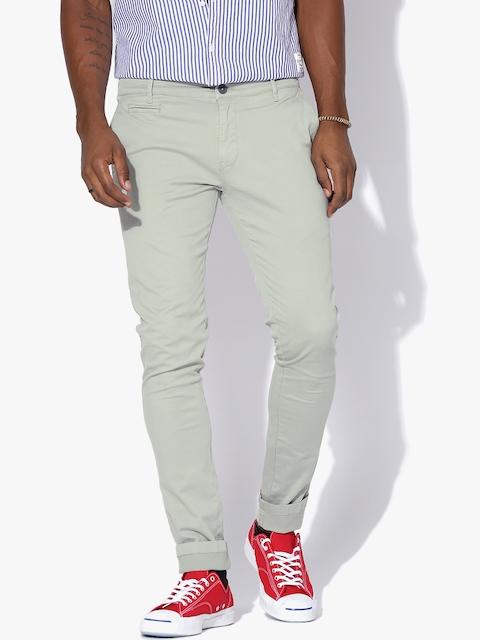 Aeropostale Grey Slim Fit Chino Trousers