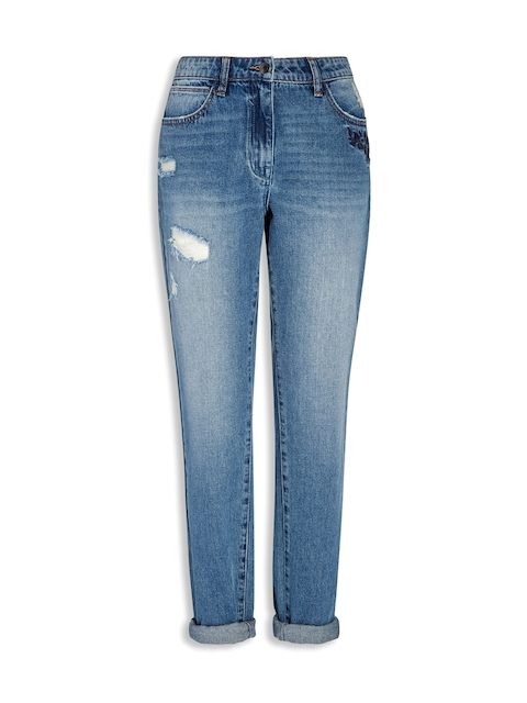 next Women Blue Mid-Rise Jeans